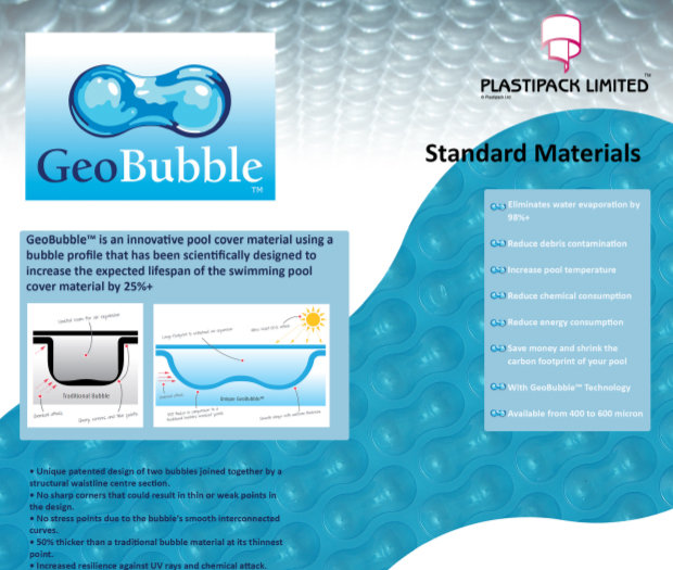 GeoBubble pool cover leaflet