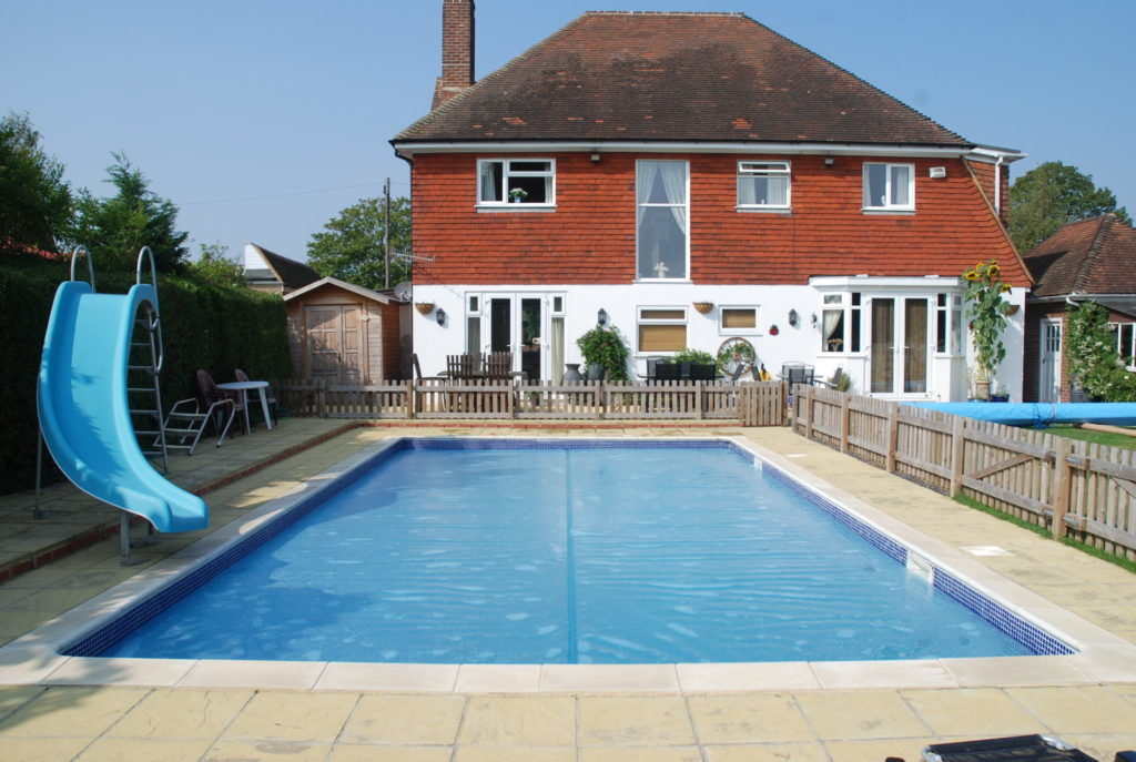 sol+guard pool cover on swimming pool