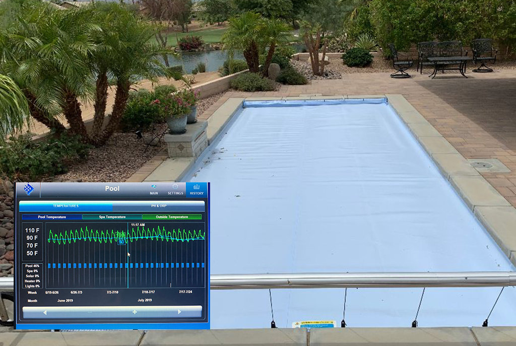 Coolguard ultra pool cover on swimming pool in florida